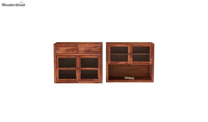 Darius Kitchen Cabinet (Honey Finish)-5