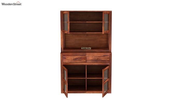 Darius Kitchen Cabinet (Honey Finish)-7