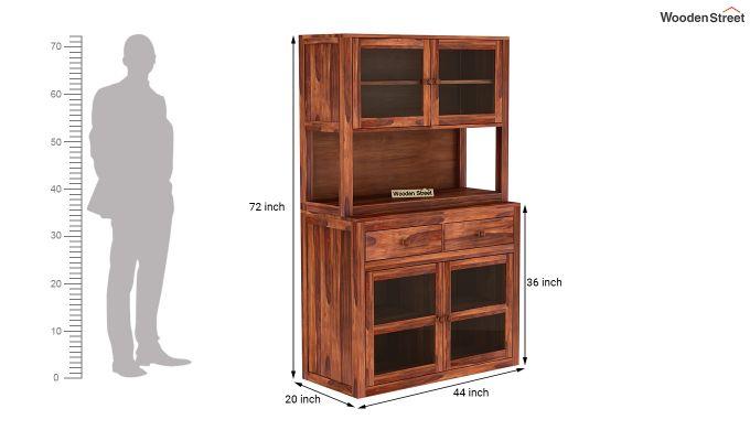Darius Kitchen Cabinet (Honey Finish)-8