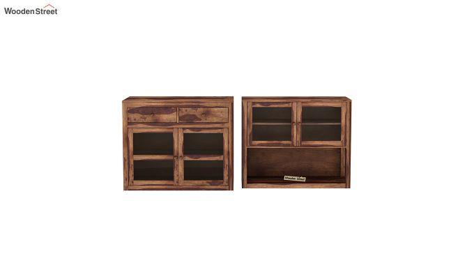 Darius Kitchen Cabinet (Teak Finish)-5