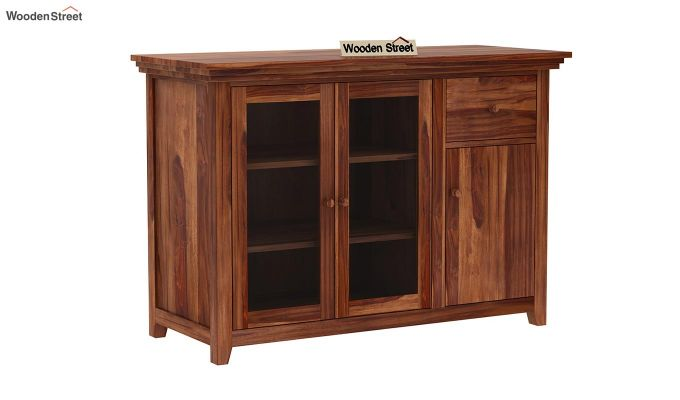 Earnville Kitchen Cabinet (Teak Finish)-2