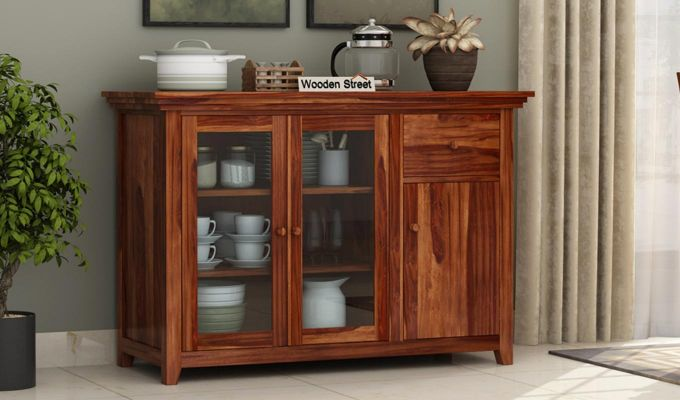 Earnville Kitchen Cabinet (Teak Finish)-1