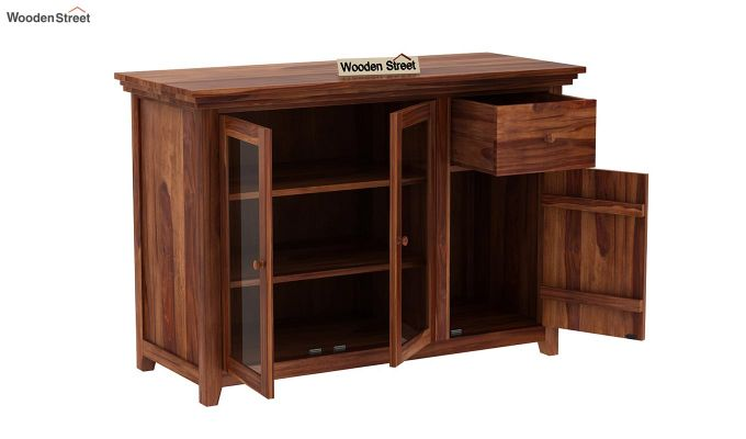 Earnville Kitchen Cabinet (Teak Finish)-4