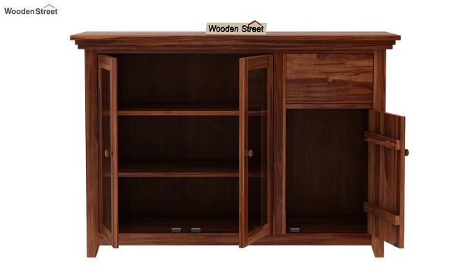 Earnville Kitchen Cabinet (Teak Finish)-5