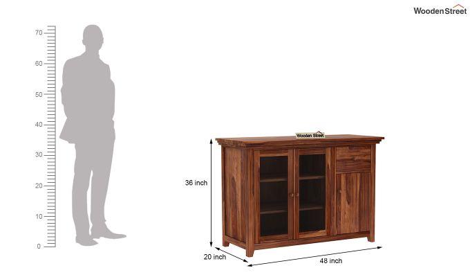 Earnville Kitchen Cabinet (Teak Finish)-6