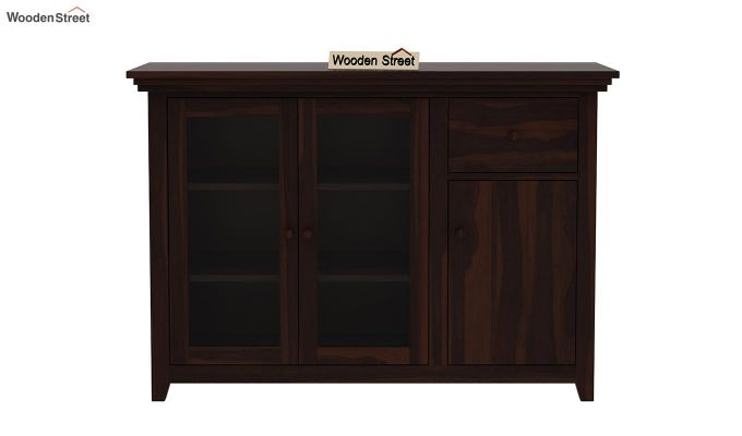 Earnville Kitchen Cabinet (Walnut Finish)-3