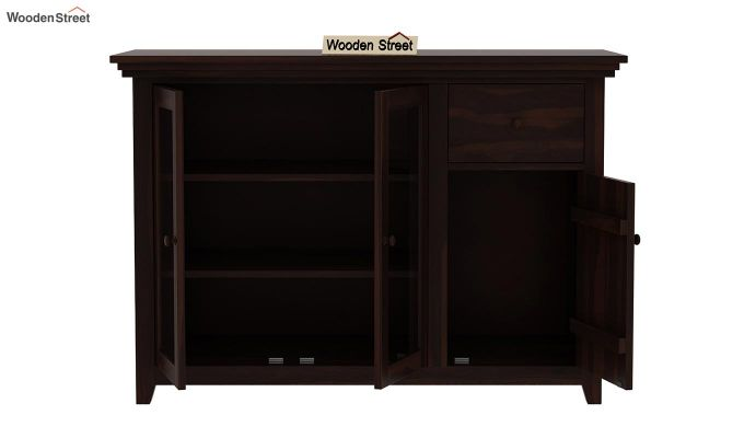 Earnville Kitchen Cabinet (Walnut Finish)-5