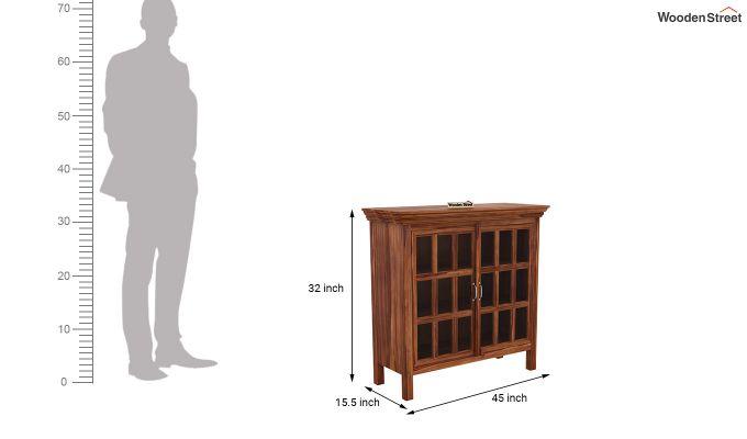 Foster Kitchen Cabinet (Teak Finish)-5
