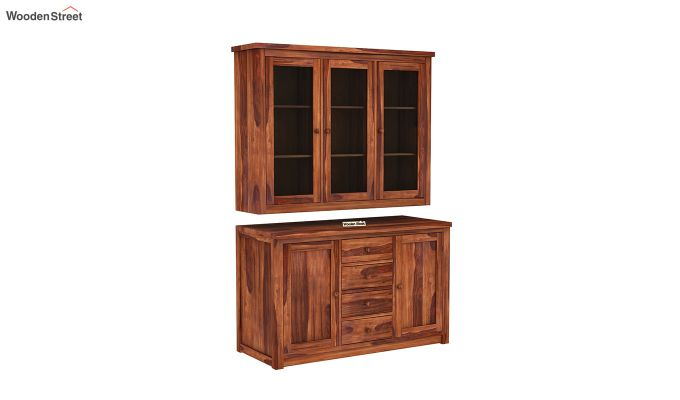 Monarch Kitchen Cabinet (Honey Finish)-4