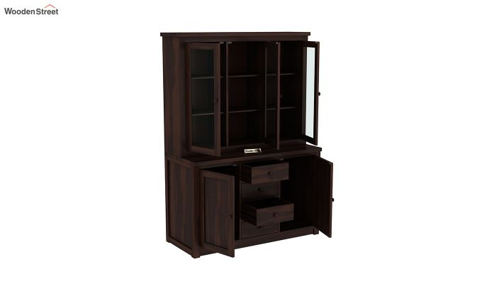 Monarch Kitchen Cabinet (Walnut Finish)-6