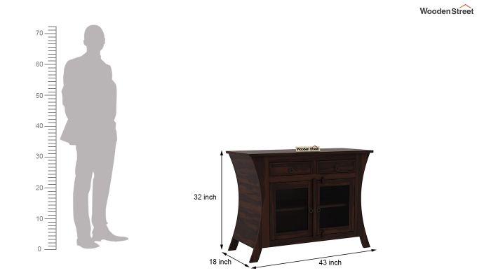 Picard Kitchen Cabinet (Walnut Finish)-6