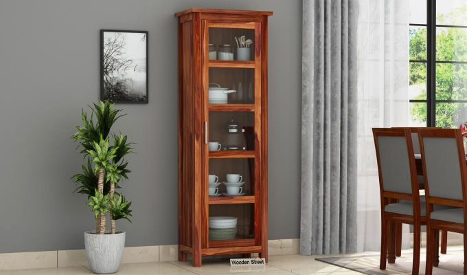 Prima Kitchen Cabinet (Teak Finish)-1