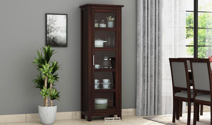 Prima Kitchen Cabinet (Walnut Finish)-1