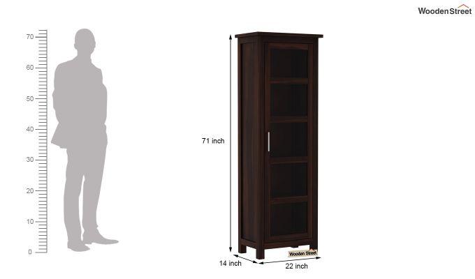 Prima Kitchen Cabinet (Walnut Finish)-6