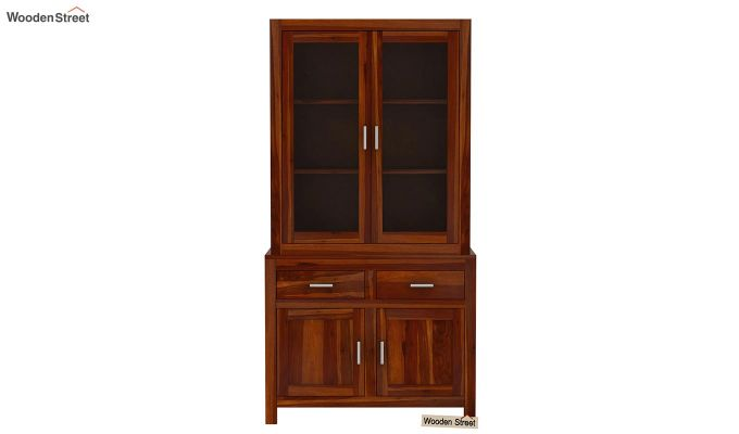 Prisma Kitchen Cabinet (Honey Finish)-3