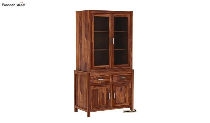 Prisma Kitchen Cabinet (Teak Finish)-2