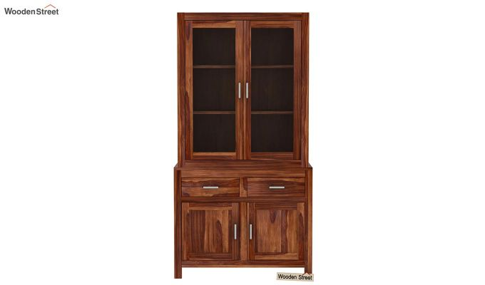 Prisma Kitchen Cabinet (Teak Finish)-3