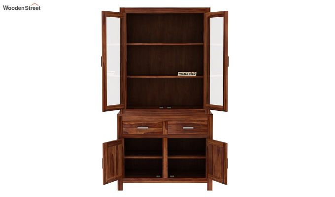 Prisma Kitchen Cabinet (Teak Finish)-5