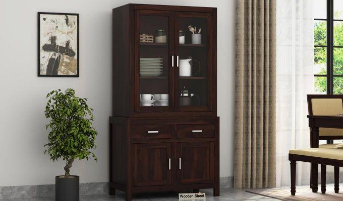 Prisma Kitchen Cabinet (Walnut Finish)-1