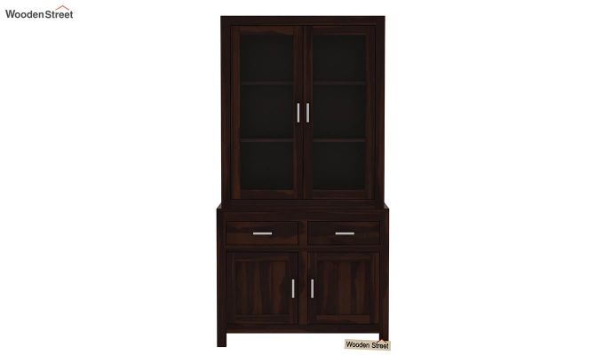 Prisma Kitchen Cabinet (Walnut Finish)-3