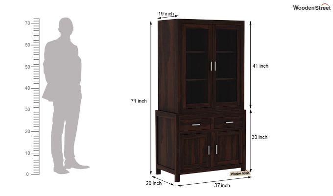 Prisma Kitchen Cabinet (Walnut Finish)-6
