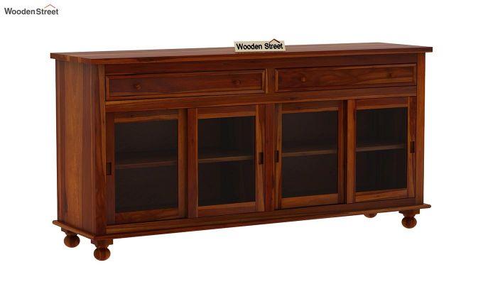 Pryce Kitchen Cabinet (Honey Finish)-3