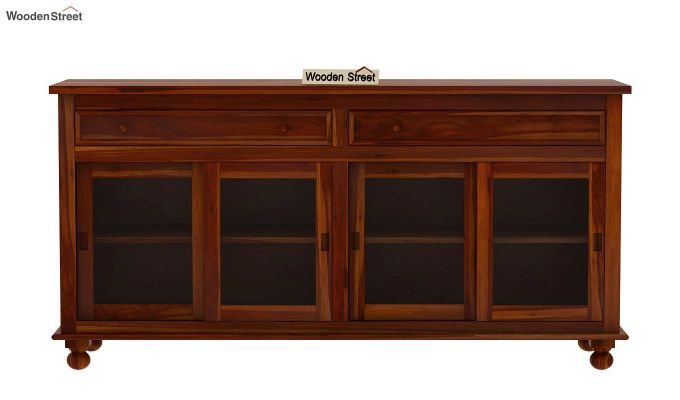 Pryce Kitchen Cabinet (Honey Finish)-4