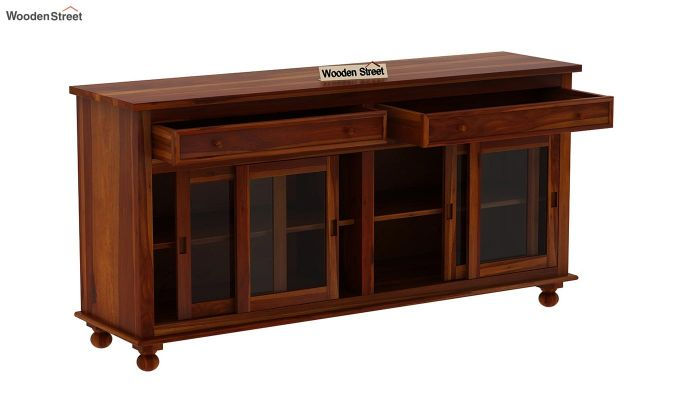 Pryce Kitchen Cabinet (Honey Finish)-5