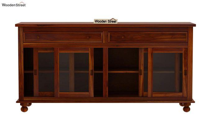 Pryce Kitchen Cabinet (Honey Finish)-6