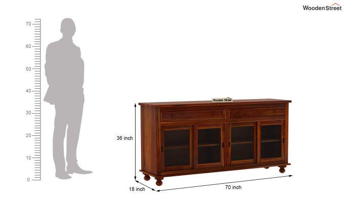 Pryce Kitchen Cabinet (Honey Finish)-7