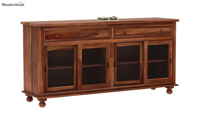 Pryce Kitchen Cabinet (Teak Finish)-3