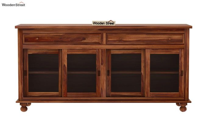Pryce Kitchen Cabinet (Teak Finish)-4