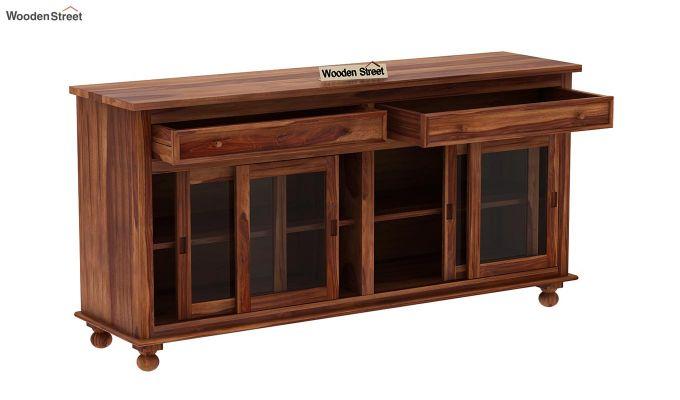 Pryce Kitchen Cabinet (Teak Finish)-5