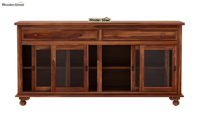 Pryce Kitchen Cabinet (Teak Finish)-6