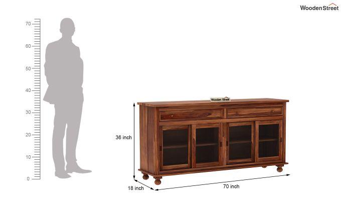 Pryce Kitchen Cabinet (Teak Finish)-7