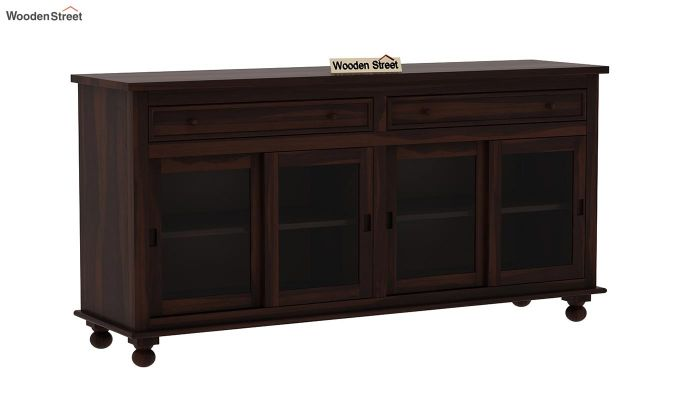 Pryce Kitchen Cabinet (Walnut Finish)-3