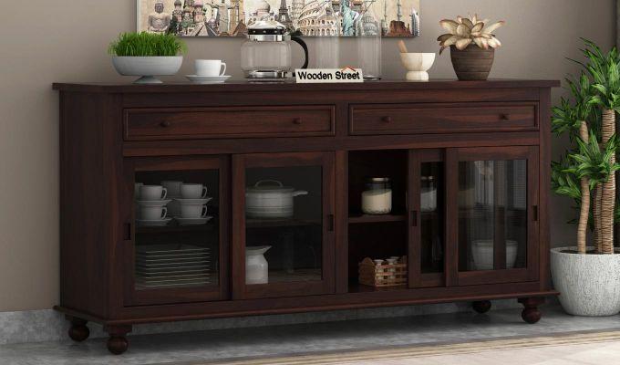 Pryce Kitchen Cabinet (Walnut Finish)-1
