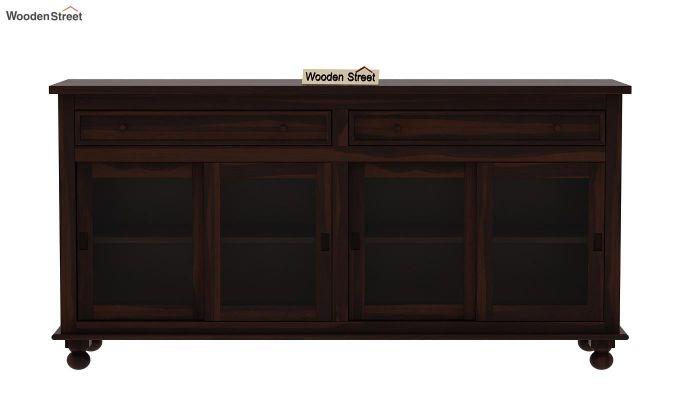 Pryce Kitchen Cabinet (Walnut Finish)-4