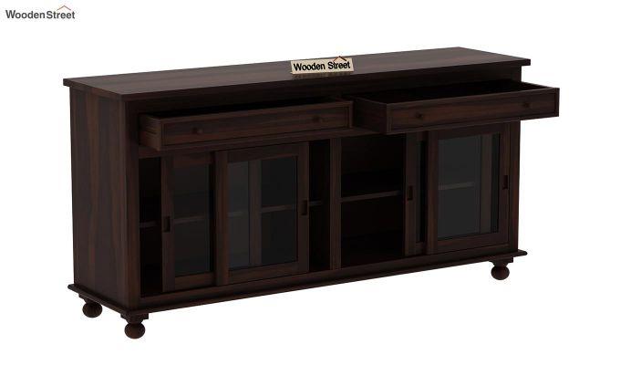 Pryce Kitchen Cabinet (Walnut Finish)-5