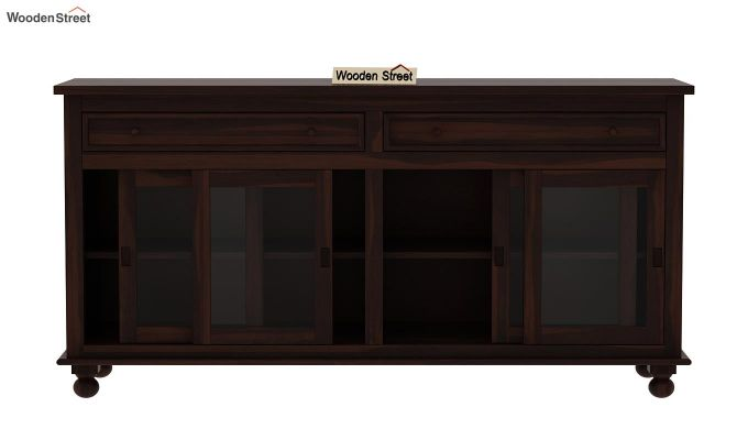 Pryce Kitchen Cabinet (Walnut Finish)-6