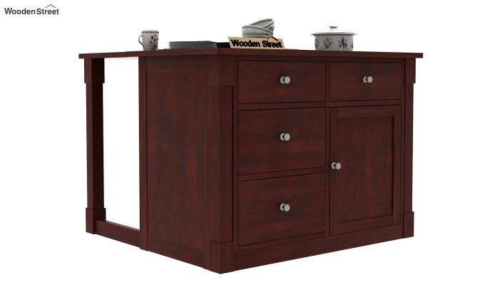 Belle Kitchen Island (Mahogany Finish)-1