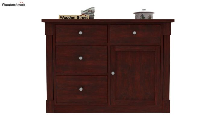 Belle Kitchen Island (Mahogany Finish)-2