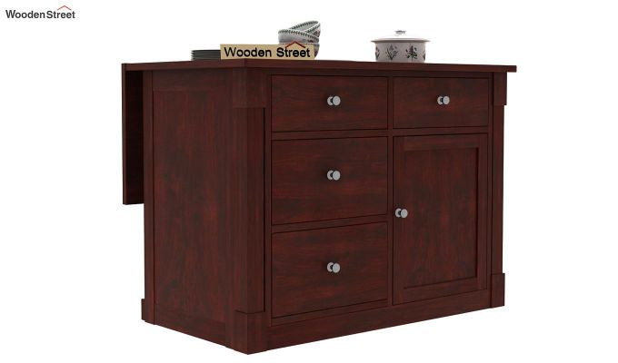 Belle Kitchen Island (Mahogany Finish)-6