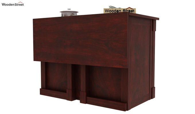 Belle Kitchen Island (Mahogany Finish)-7