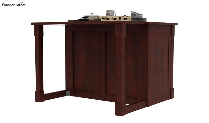Belle Kitchen Island (Mahogany Finish)-5