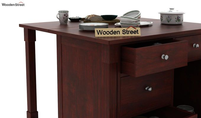 Belle Kitchen Island (Mahogany Finish)-8