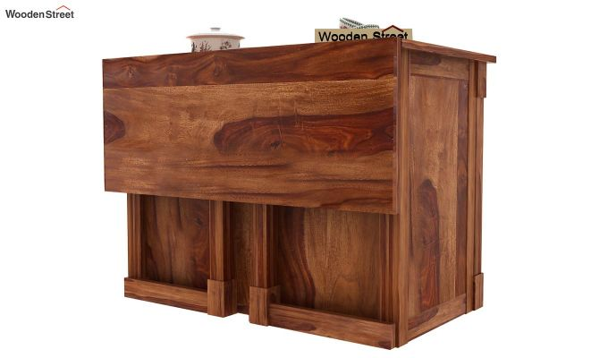 Buy Belle Kitchen Island Teak Finish Online In India