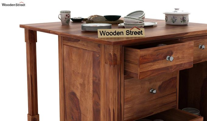 Belle Kitchen Island (Teak Finish)-8