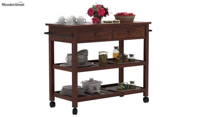 Birchstone Kitchen Island (Walnut Finish)-2