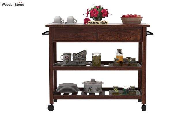 Birchstone Kitchen Island (Walnut Finish)-3